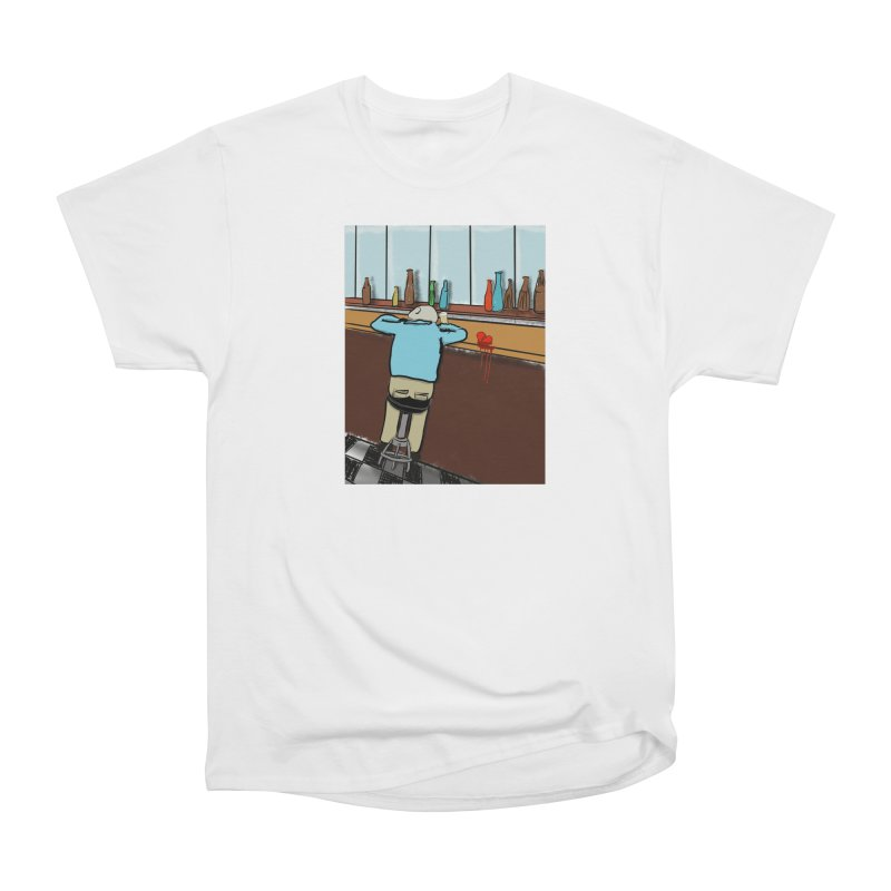 Drinking with a Broken Heart Men's Heavyweight T-Shirt by Pigment Studios Merch