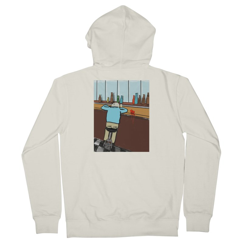 Drinking with a Broken Heart Men's French Terry Zip-Up Hoody by Pigment Studios Merch