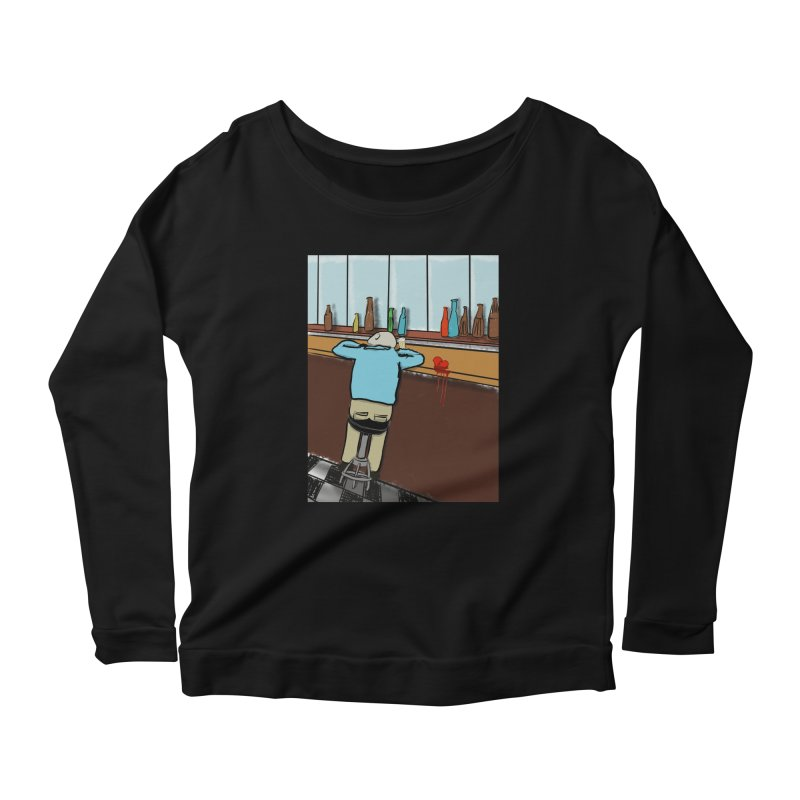 Drinking with a Broken Heart Women's Scoop Neck Longsleeve T-Shirt by Pigment Studios Merch