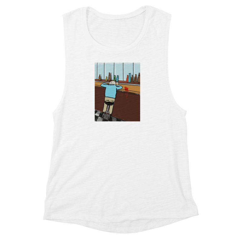Drinking with a Broken Heart Women's Muscle Tank by Pigment Studios Merch