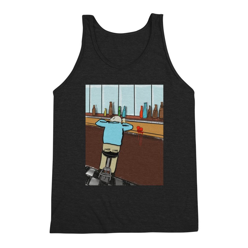 Drinking with a Broken Heart Men's Triblend Tank by Pigment Studios Merch