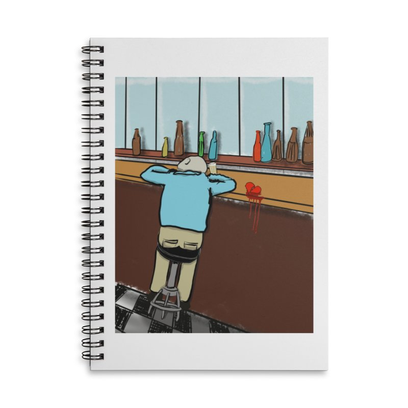 Drinking with a Broken Heart Accessories Lined Spiral Notebook by Pigment Studios Merch