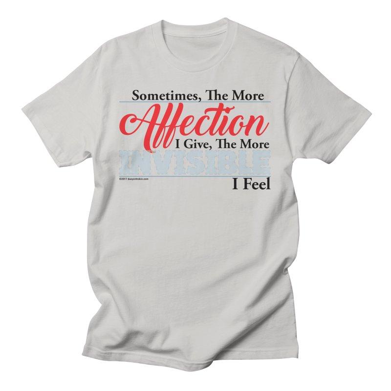 Invisible Affection Men's T-Shirt by Pigment Studios Merch