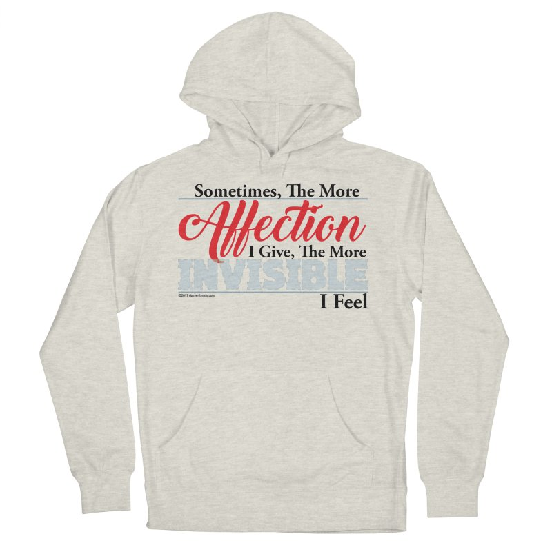 Invisible Affection Men's French Terry Pullover Hoody by Pigment Studios Merch