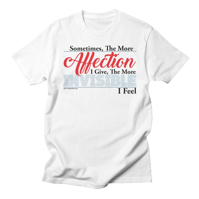 Invisible Affection Men's Regular T-Shirt by Pigment Studios Merch
