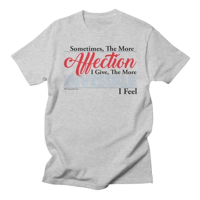 Invisible Affection Women's Regular Unisex T-Shirt by Pigment Studios Merch
