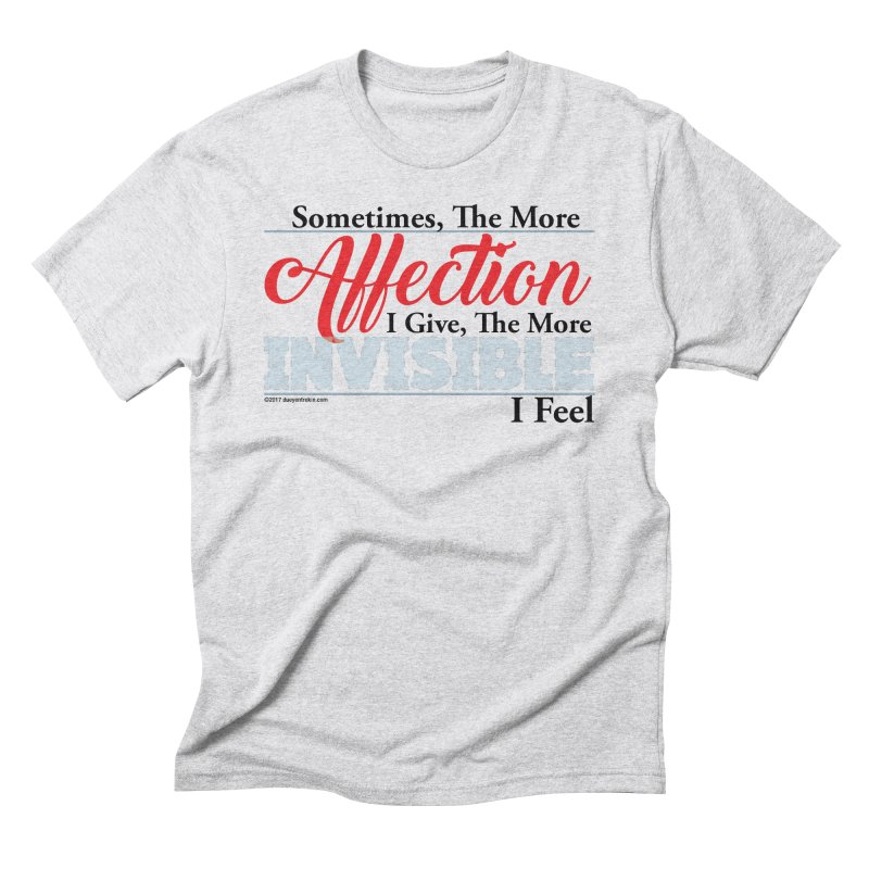 Invisible Affection Men's Triblend T-Shirt by Pigment Studios Merch