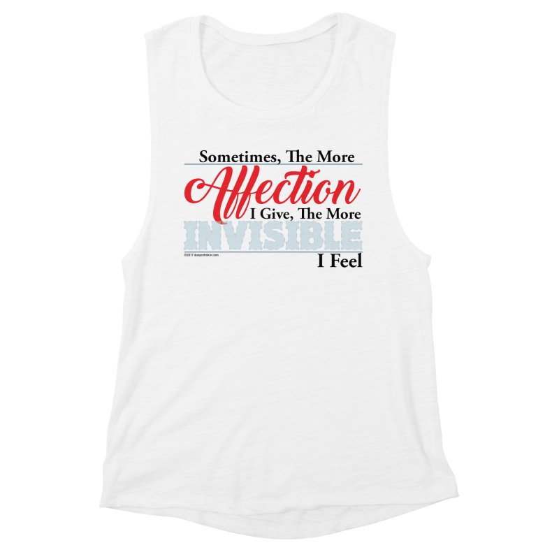 Invisible Affection Women's Muscle Tank by Pigment Studios Merch