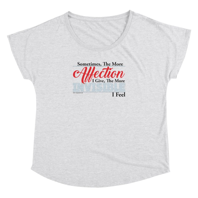 Invisible Affection Women's Dolman by Pigment Studios Merch