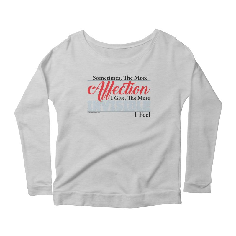 Invisible Affection Women's Longsleeve Scoopneck  by Pigment Studios Merch