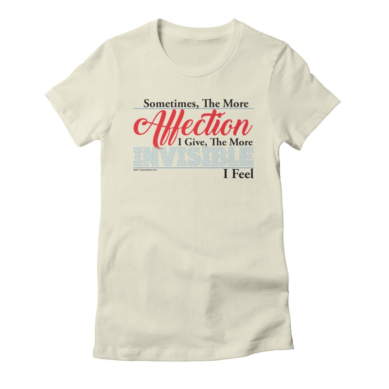 Invisible Affection Women's Fitted T-Shirt by Pigment Studios Merch
