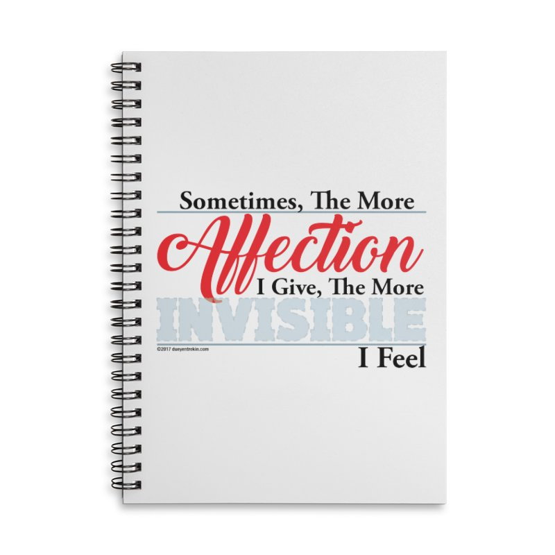 Invisible Affection Accessories Lined Spiral Notebook by Pigment Studios Merch