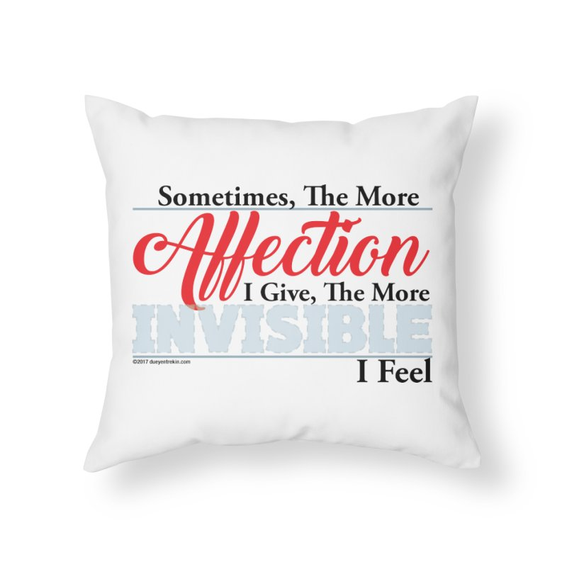 Invisible Affection Home Throw Pillow by Pigment Studios Merch