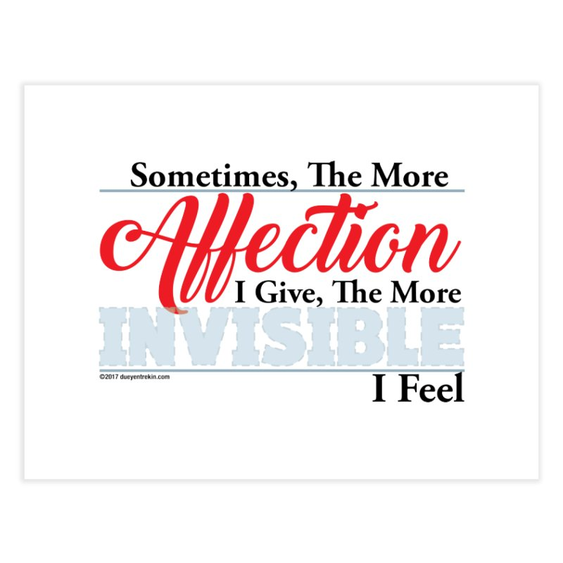 Invisible Affection Home Fine Art Print by Pigment Studios Merch