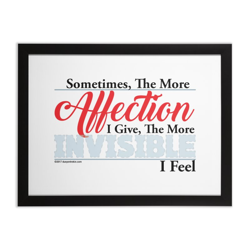 Invisible Affection Home Framed Fine Art Print by Pigment Studios Merch