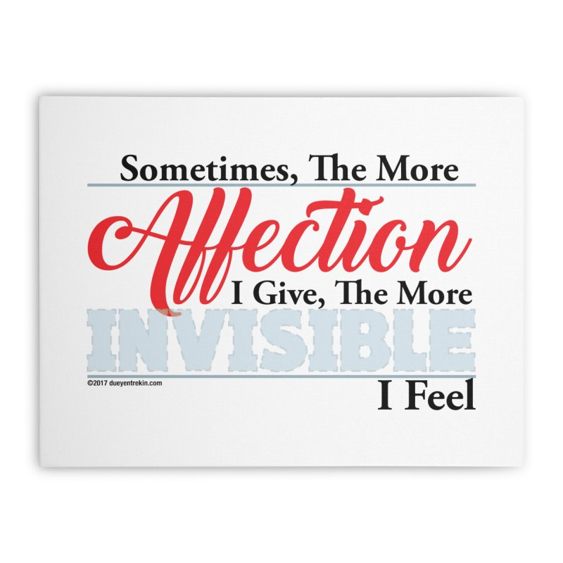 Invisible Affection Home Stretched Canvas by Pigment Studios Merch
