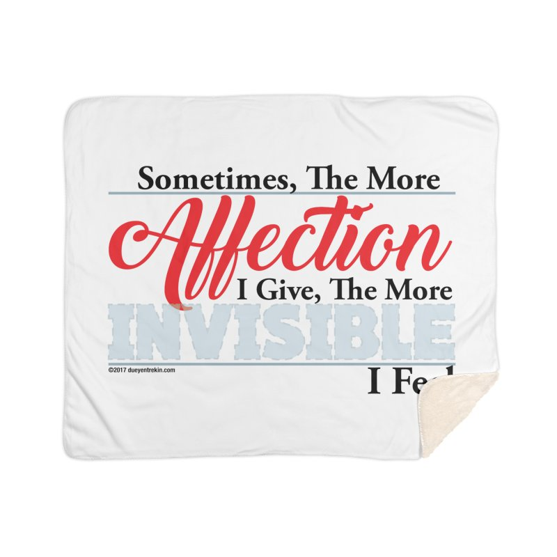 Invisible Affection Home Blanket by Pigment Studios Merch