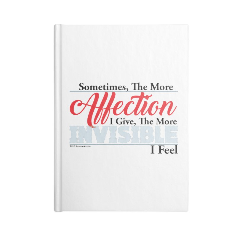 Invisible Affection Accessories Blank Journal Notebook by Pigment Studios Merch