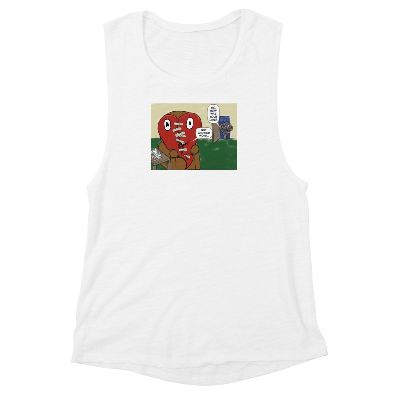 How was your date? Women's Muscle Tank by Pigment Studios Merch