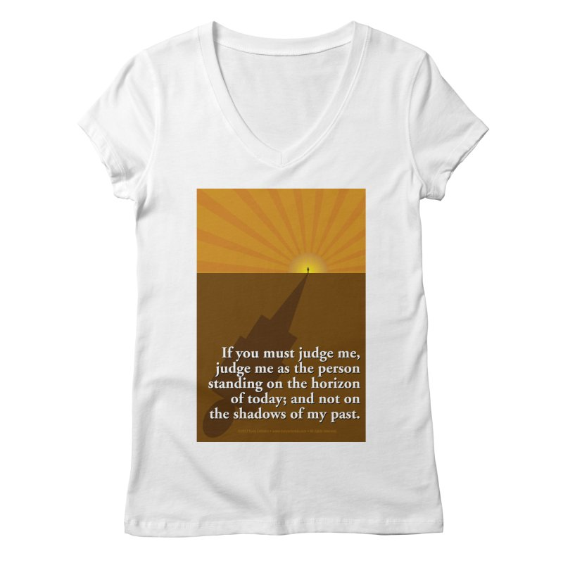 Imposing Shadow Women's Regular V-Neck by Pigment Studios Merch