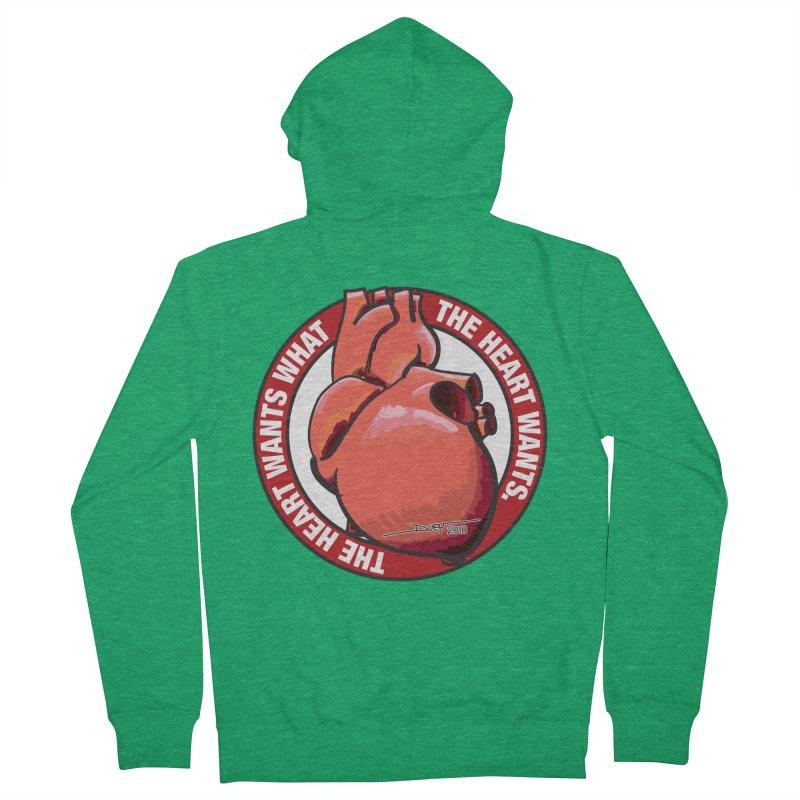The Heart Wants... Women's Zip-Up Hoody by Pigment Studios Merch