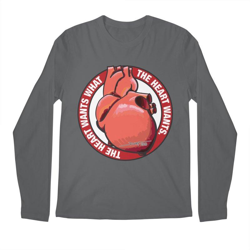The Heart Wants... Men's Longsleeve T-Shirt by Pigment Studios Merch