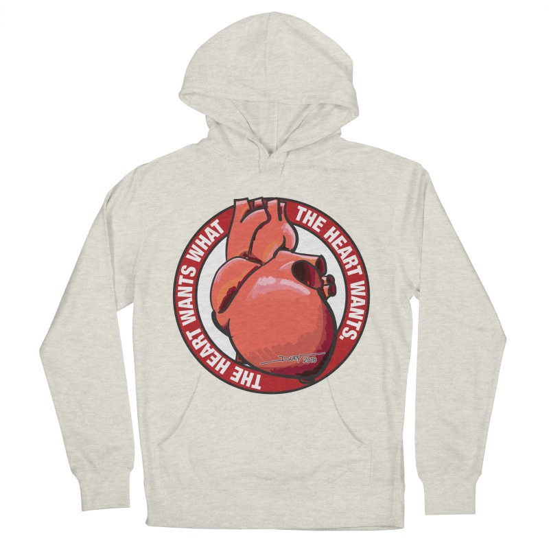 The Heart Wants... Men's French Terry Pullover Hoody by Pigment Studios Merch