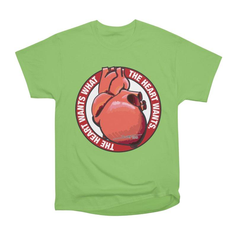 The Heart Wants... Men's Heavyweight T-Shirt by Pigment Studios Merch