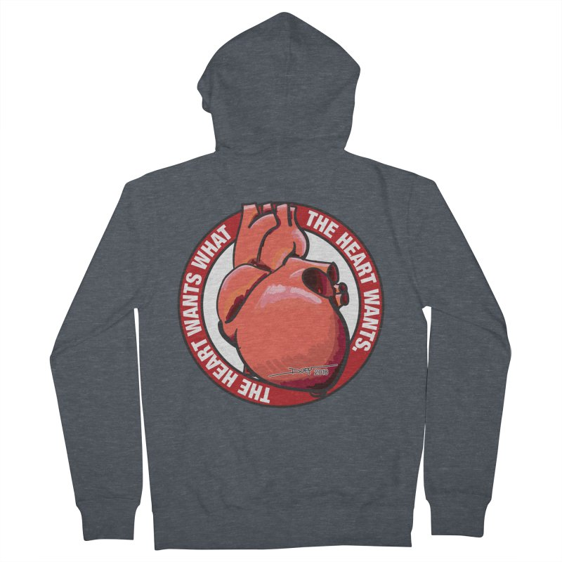 The Heart Wants... Women's French Terry Zip-Up Hoody by Pigment Studios Merch