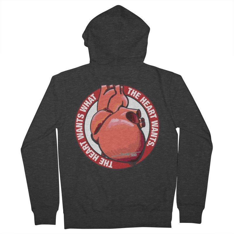 The Heart Wants... Men's Zip-Up Hoody by Pigment Studios Merch
