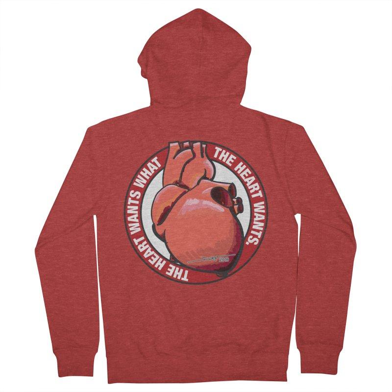 The Heart Wants... Men's French Terry Zip-Up Hoody by Pigment Studios Merch