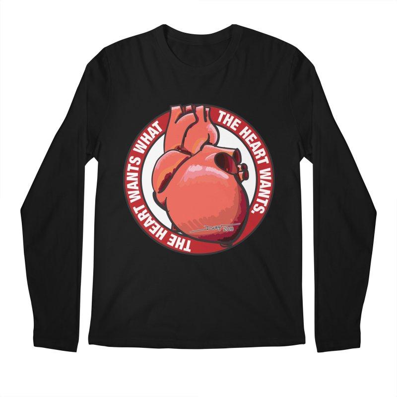 The Heart Wants... Men's Regular Longsleeve T-Shirt by Pigment Studios Merch