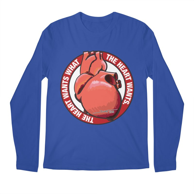 The Heart Wants... Men's Regular Longsleeve T-Shirt by Pigment Studios Merch