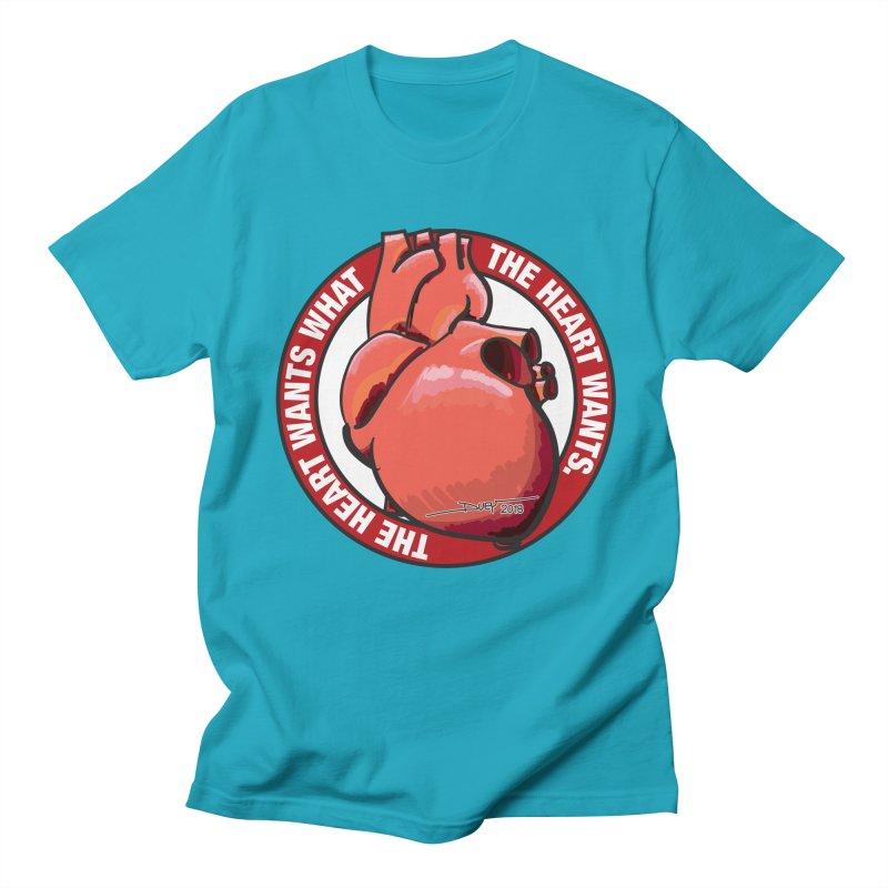 The Heart Wants... Men's Regular T-Shirt by Pigment Studios Merch