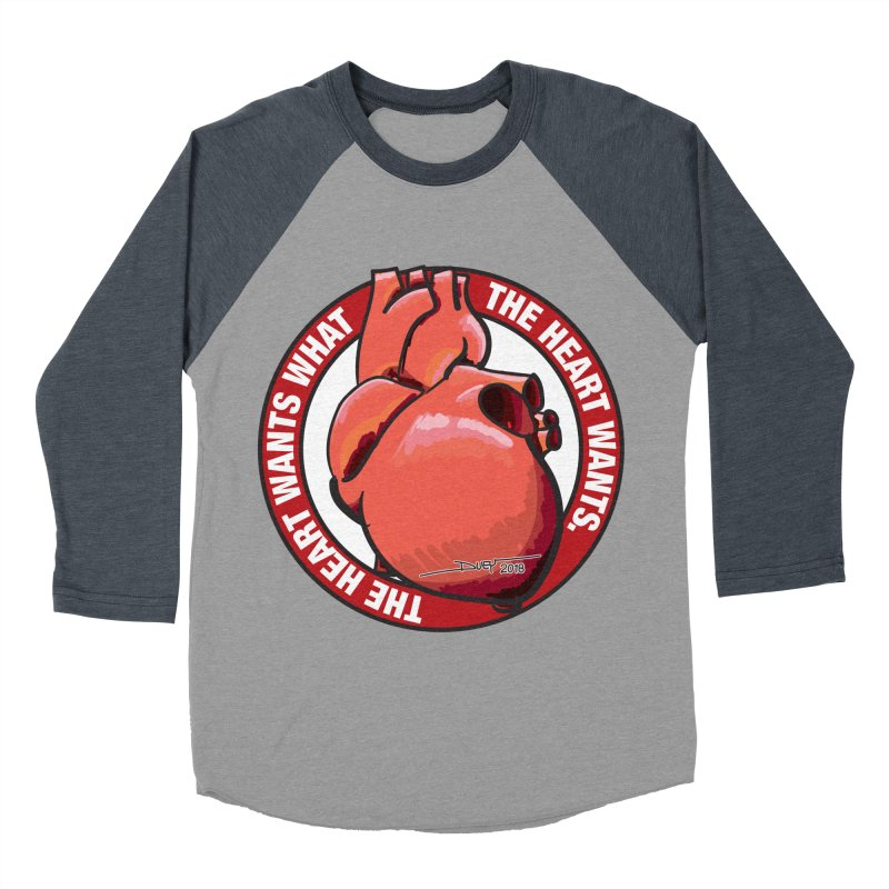 The Heart Wants... Women's Baseball Triblend Longsleeve T-Shirt by Pigment Studios Merch