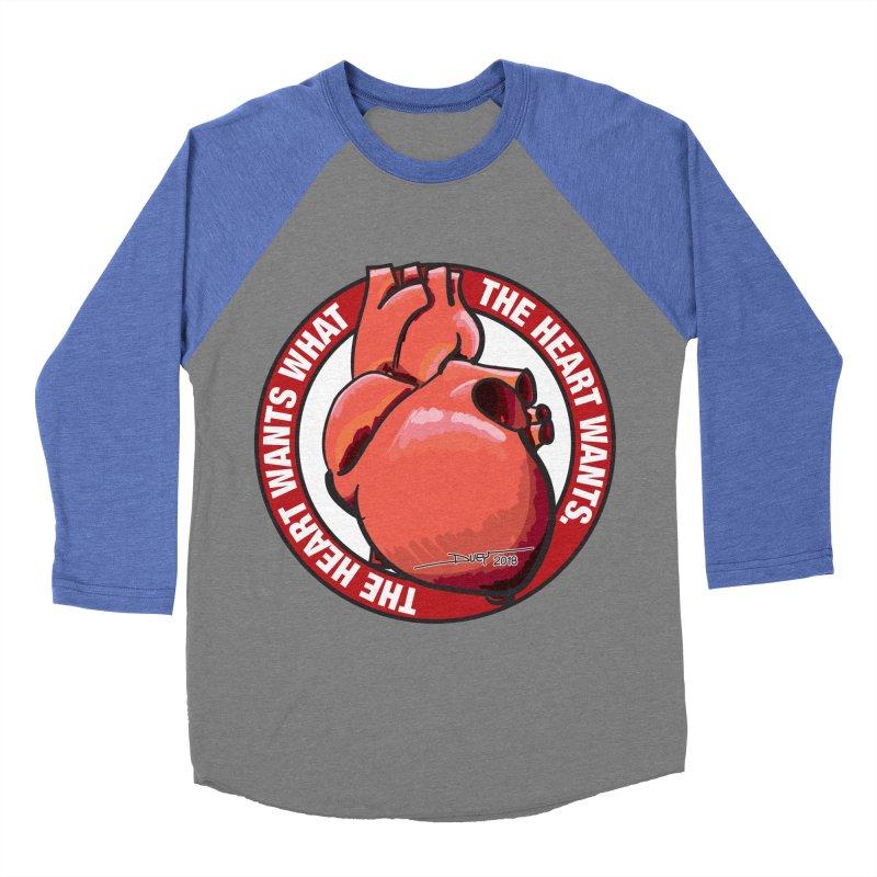 The Heart Wants... Men's Baseball Triblend Longsleeve T-Shirt by Pigment Studios Merch
