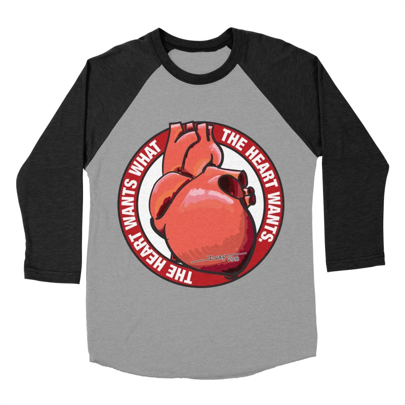 The Heart Wants... Men's Baseball Triblend Longsleeve T-Shirt by Pigment Studios Merch