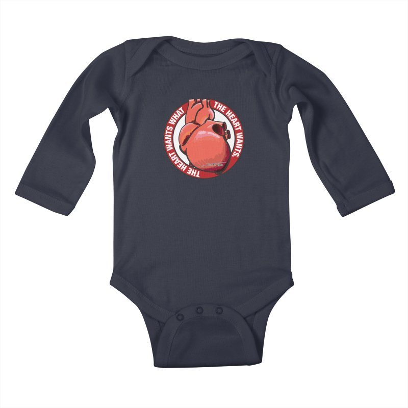 The Heart Wants... Kids Baby Longsleeve Bodysuit by Pigment Studios Merch
