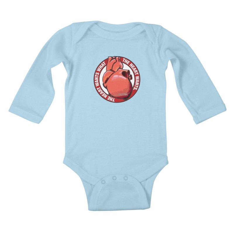 The Heart Wants... Kids Baby Longsleeve Bodysuit by Pigment Studios Merch