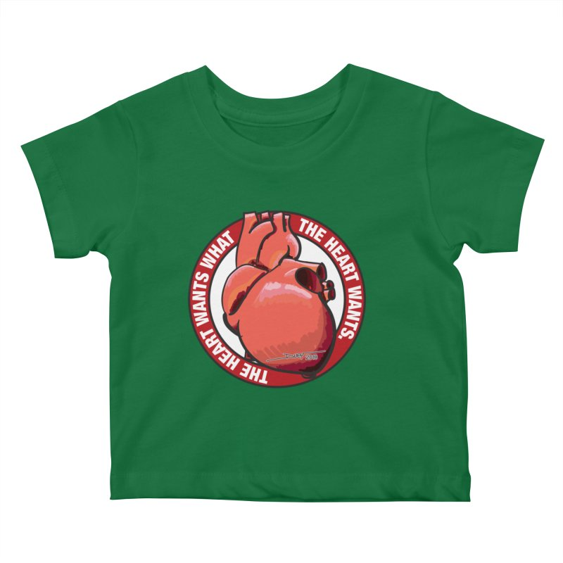 The Heart Wants... Kids Baby T-Shirt by Pigment Studios Merch