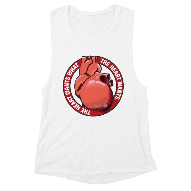 The Heart Wants... Women's Muscle Tank by Pigment Studios Merch