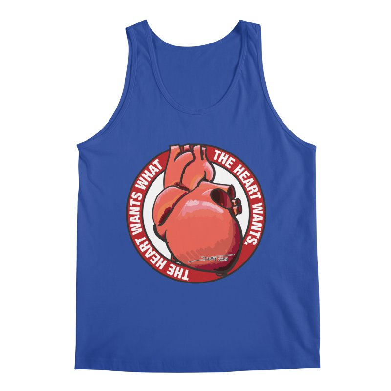 The Heart Wants... Men's Regular Tank by Pigment Studios Merch