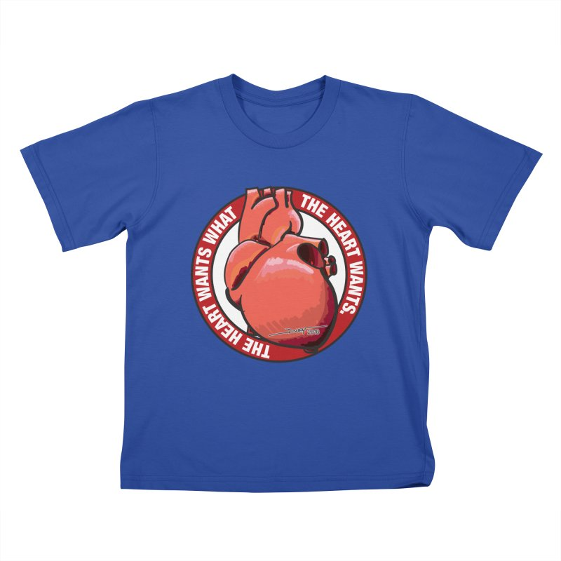 The Heart Wants... Kids T-Shirt by Pigment Studios Merch
