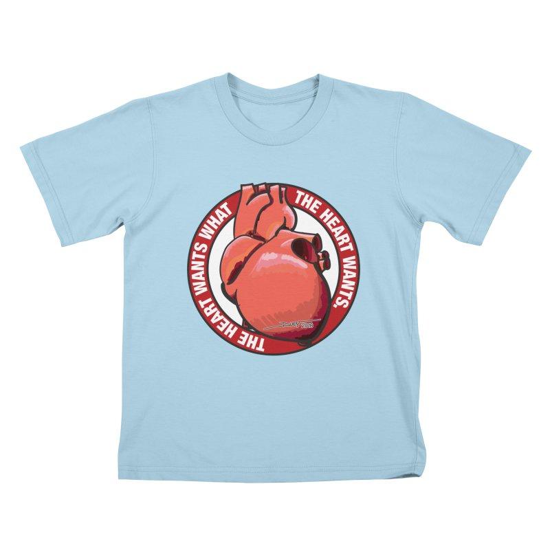 The Heart Wants... Kids T-Shirt by Pigment Studios Merch