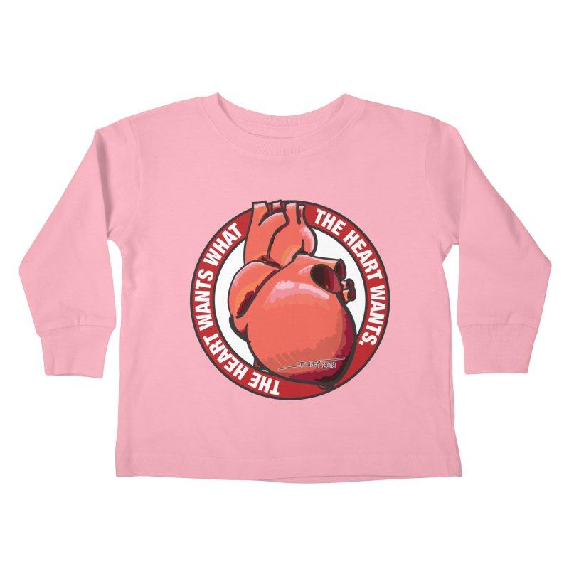 The Heart Wants... Kids Toddler Longsleeve T-Shirt by Pigment Studios Merch