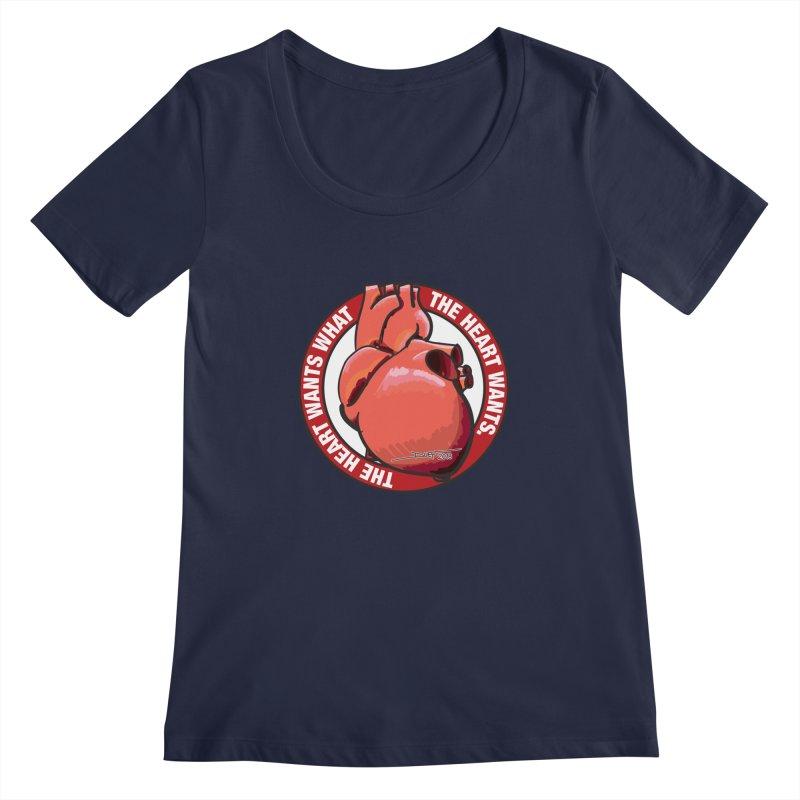 The Heart Wants... Women's Regular Scoop Neck by Pigment Studios Merch