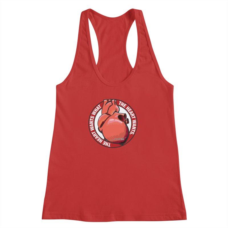 The Heart Wants... Women's Racerback Tank by Pigment Studios Merch