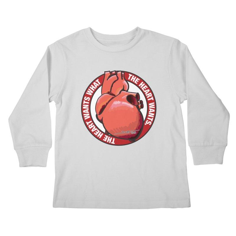 The Heart Wants... Kids Longsleeve T-Shirt by Pigment Studios Merch