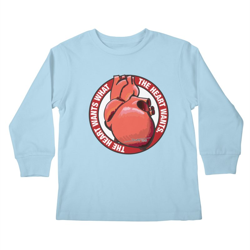The Heart Wants... Kids Longsleeve T-Shirt by Pigment Studios Merch