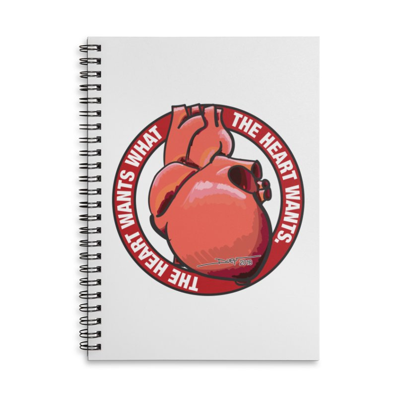 The Heart Wants... Accessories Lined Spiral Notebook by Pigment Studios Merch